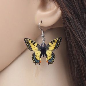 Vinyl Butterfly Earrings